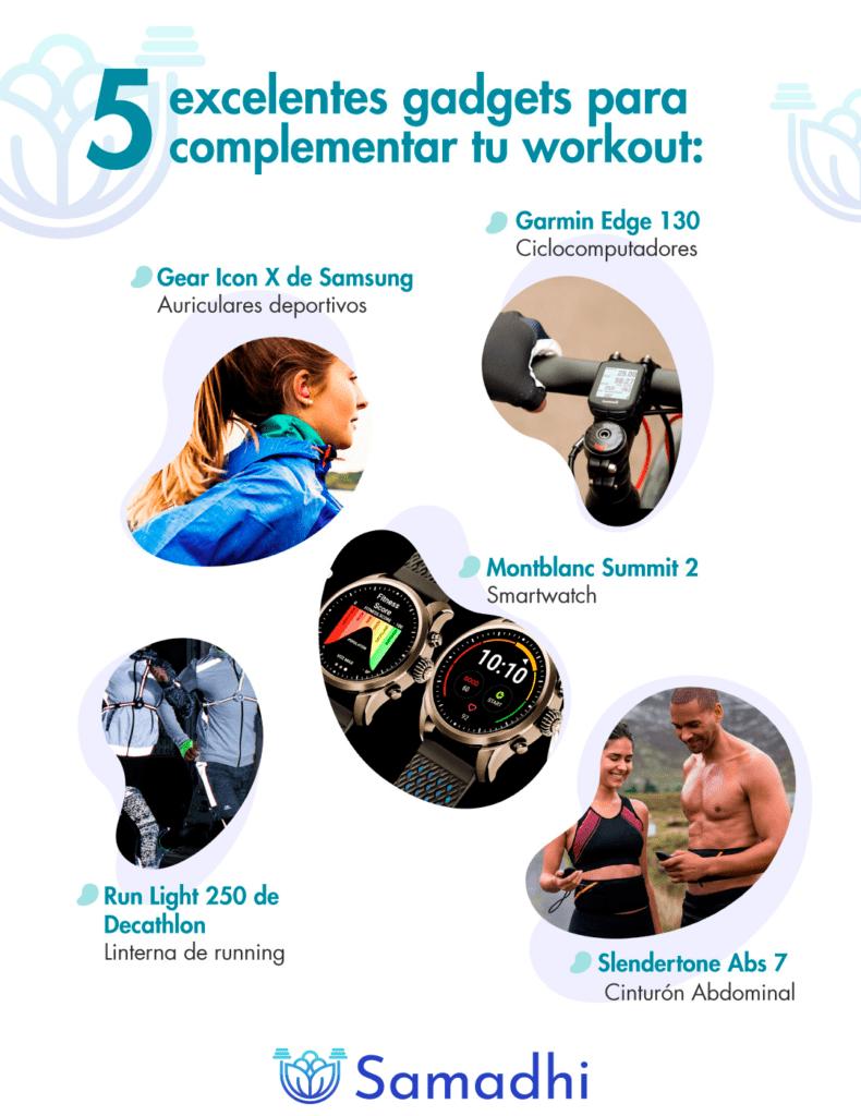 5 gadgets para acompletar tu workout